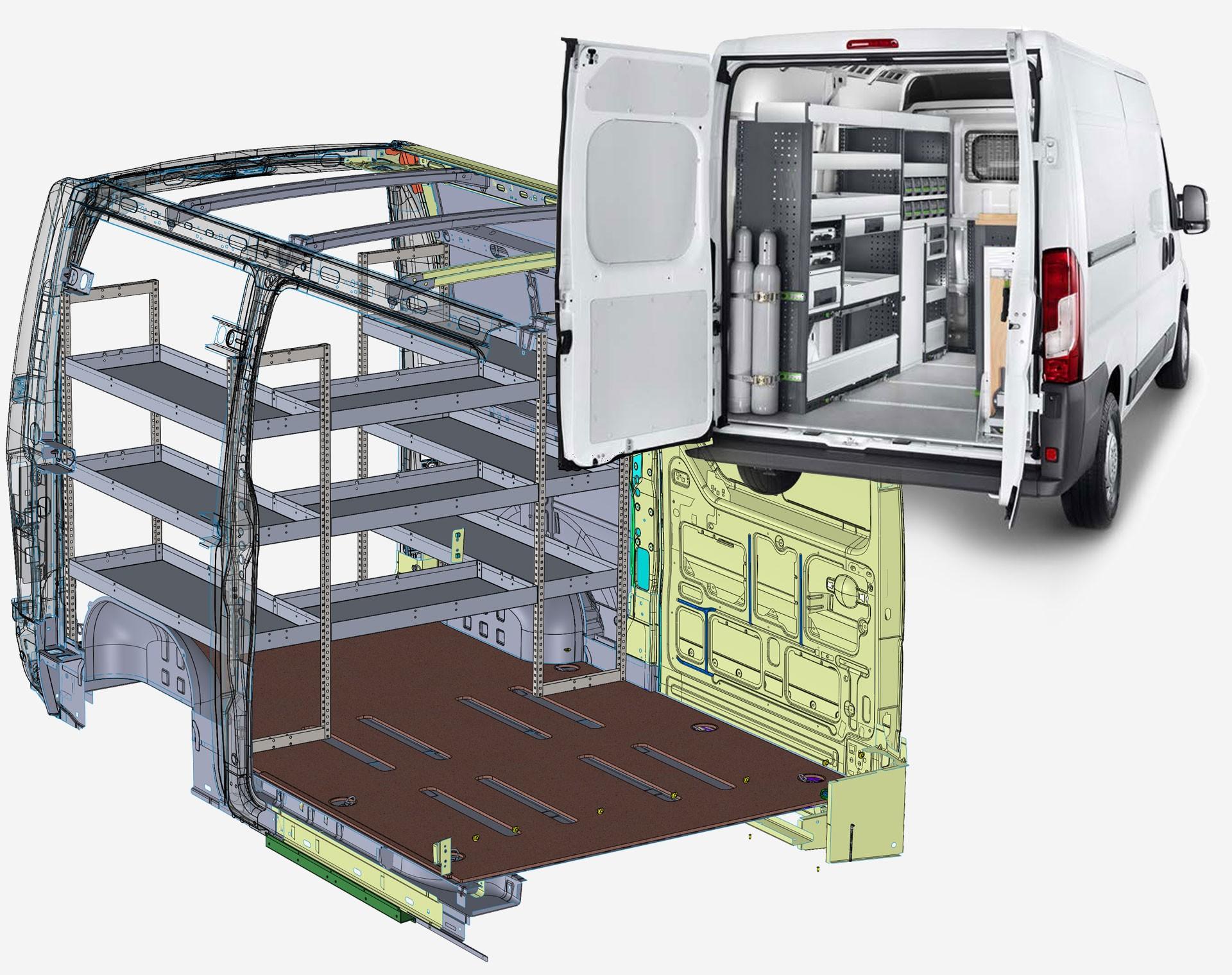 Allestimento veicoli commerciali con progettazione su misura